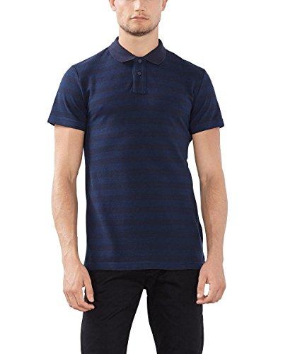 ESPRIT Gestreift - Slim Fit, Polo Uomo, Blu (NAVY), Medium