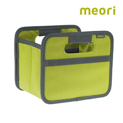 meori Faltbox Mini Kiwi Grün 16,5x12,5x14cm stabil abwischbar Polyester Geschenkbox Stiftablage Schreibtisch Schrank Homeoffice zusammenfaltbar Qualität Kosmetik -