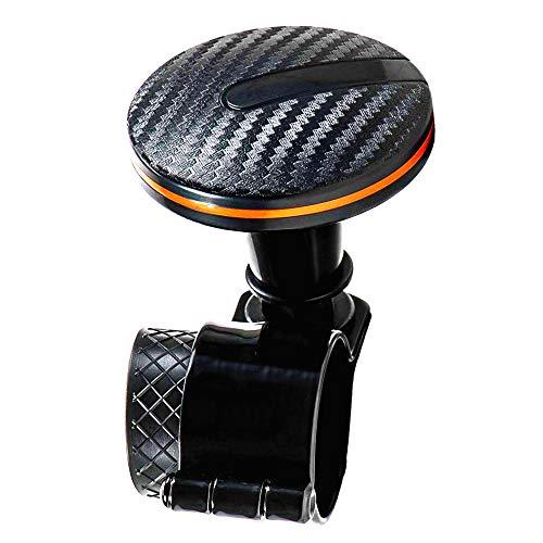 TronicXL - Pomello per volante auto, per trattore, camion, effetto carbonio, design moderno