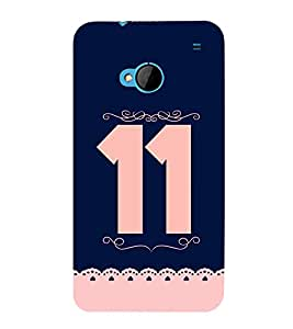 PrintVisa Do AUR Do 11 3D Hard Polycarbonate Designer Back Case Cover for HTC One :: HTC One M7