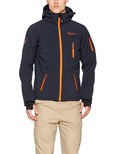 Fifty Five Herren Jacke Softshelljacke Alert mit Five-Tex Membrane, Blau (Navy/Orange 002), XX-Large