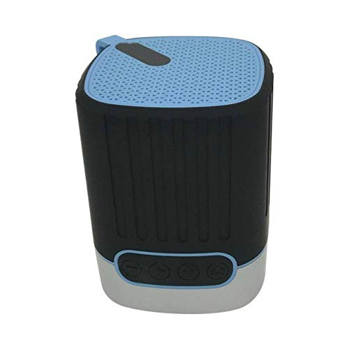 qiyan , Nouveau Haut-Parleur extérieur sans Fil portatif avec HD Audio Ipx5 Haut-Parleur sans Fil Bluetooth étanche avec éclairage léger Haut-parleurs portatifs Bleus