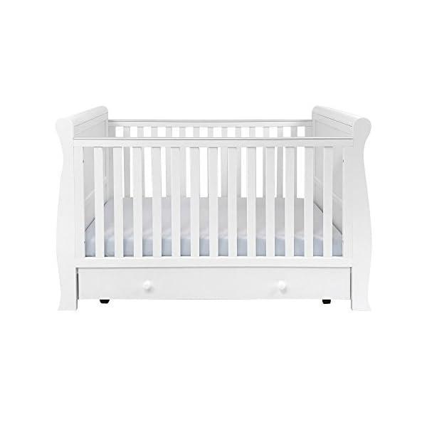 East Coast Kensington Sleigh 2 Piece Nursery Room Set Plus Mattress - White East Coast  4