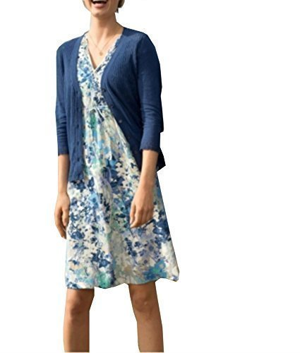 Kleid Sommerkleid von Eddie Bauer - Blau Gr. 6 (36)