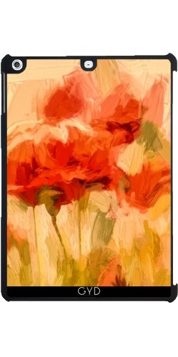 funda-para-apple-ipad-air-campo-de-maiz-dorado-con-amapolas-by-utart