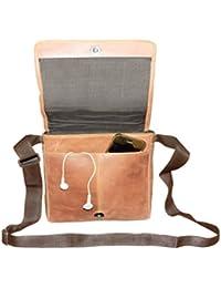 Style98 Genuine Leather Traveller Neck Pouch,Messenger Bag And Passport Sling Bag For Men,Women,Boys & Girls -...