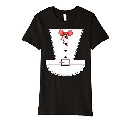 (Damen Damen Sexy French Maid Halloween-Kostüm Shirt)