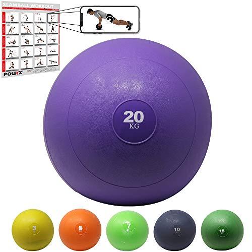 POWRX Slam Ball Balón Medicinal 20 kg -