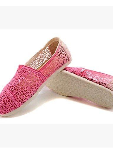 ZQ Scarpe Donna - Ballerine - Ufficio e lavoro / Casual - Comoda - Piatto - Pizzo - Verde / Rosa , pink-us8.5 / eu39 / uk6.5 / cn40 , pink-us8.5 / eu39 / uk6.5 / cn40 pink-us6.5-7 / eu37 / uk4.5-5 / cn37