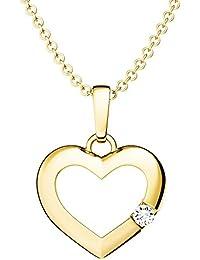 ECHT 925 Silber Herz Halskette Anhänger Herzen Schmuck 14K vergoldet