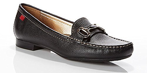Marc Joseph New York , Damen Mokassins, schwarz - Black Grainy - Größe: 39 EU (M) (Tan Schuhe Damen Golf)