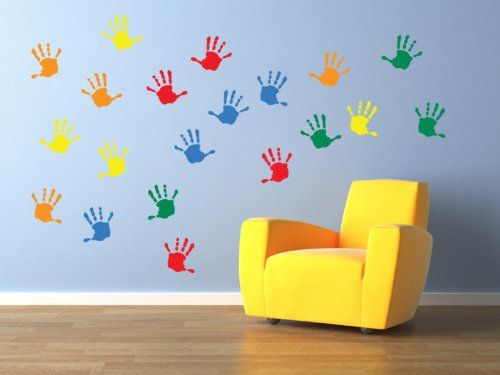 Vinyl Concept   Childrenu0027s Wall Stickers, Nursery Handprints Wall , Kids  Removable, Easy To Part 89