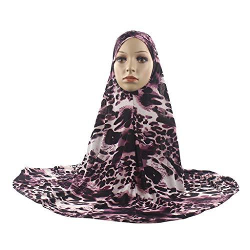Mitlfuny Indian Muslim Islamic Arab Abaya Jilbab Middle Eastern Ramadan,Muslimische Frauen Hijab Instant Convenient Schal Kopf tragen Schal Turban ()