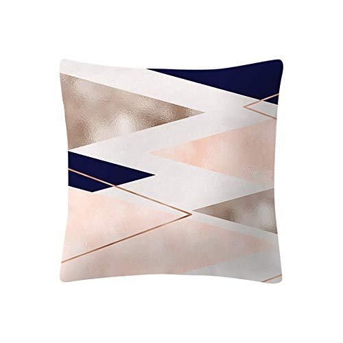 Longra ☂☂❤️❤️ Almohada Decorativa con Relleno,Funda de cojín Rosa Rosa Dorada Funda de Almohada Decoración para el hogar