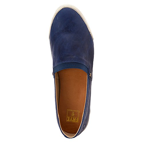 Frye Melanie Slip On Leder Turnschuhe Royal Blue