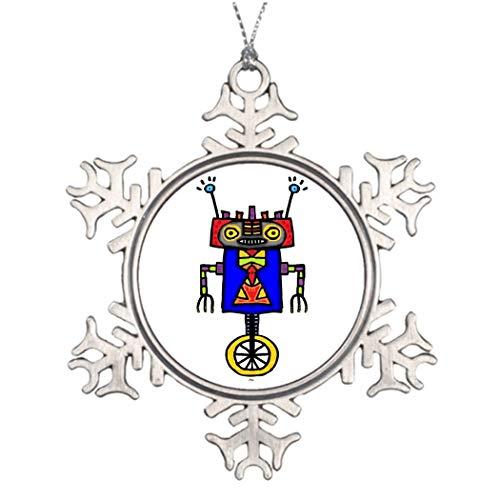 qidushop Einrad Roboter Deko Weihnachten Schneeflocke Ornament für Weihnachtsbaum