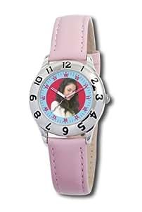 Disney Kinder-Armbanduhr Gabriella Montez Lernuhr rosa Leder #0803C009D051S401
