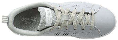 adidas Vs Advantage Clean, Sneakers Basses Femme, Core Black/Core Black/Light Orchid Gris (Clonix/msilve/ftwwht)