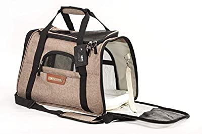 Pawfect Pets Premium Pet Travel Carrier, Airline Approved, Soft-Sided, Comes with Two Pet Mats, Perfect for Small Dogs and Cats. from Pawfect Pets