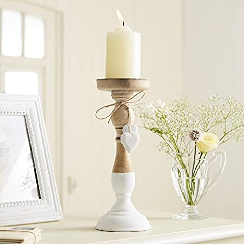 Natural Wooden Candle Stick with Hanging
