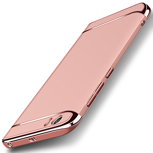 le + Finger-Halterung Ring Ständer, 3 in 1 Hybrid Matt Plastik Schutzhülle, Ultra-dünne und Leichte Rutschsicher Handytasche, Stoßfest Vollschutz Cover Case - Rose Gold (Gold Frames Bulk)