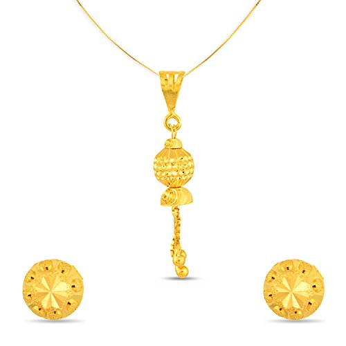 P.N.Gadgil Jewellers Lavanya Collection 22k (916) Yellow Gold Jewellery Set - B01M63RIJI