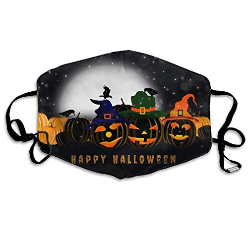 Daawqee Staubschutzmasken, Anti Dust Face Mouth Cover Mask Scary Halloween Night Anti Pollution Breath Healthy Mask