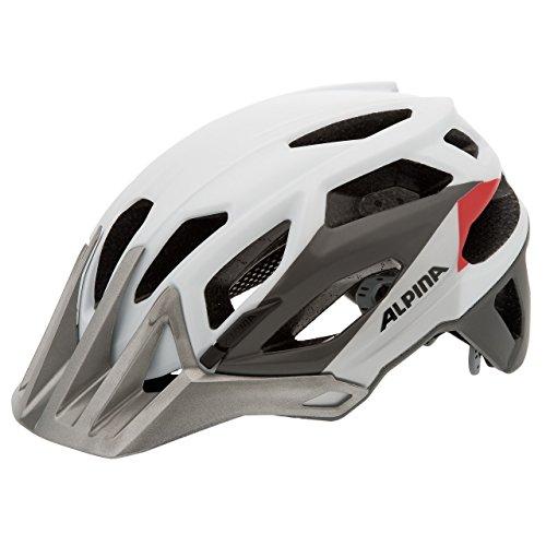 ALPINA Damen Fahrradhelm Garbanzo, White/Silver/Red, 53-57 cm
