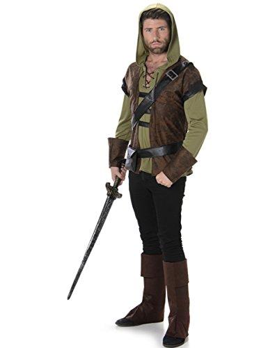 Karnival Costumes  - Robin Hood Waldjäger Kostüm für Herren Taille L
