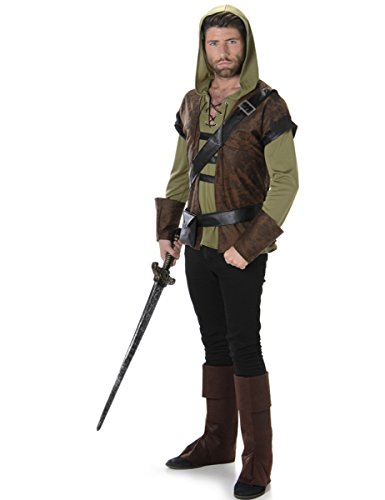 Karnival Costumes  - Robin Hood Waldjäger Kostüm für Herren Taille (Robin Kostüm Hood)