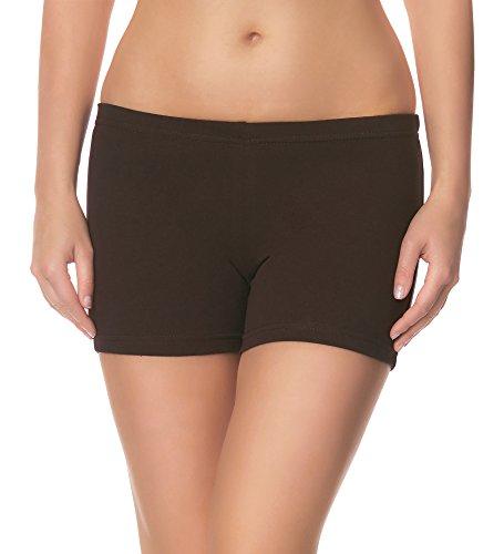 Ladeheid Damen Shorts LAMA05 (Braun28, M/L (Herstellergröße: 38/40))