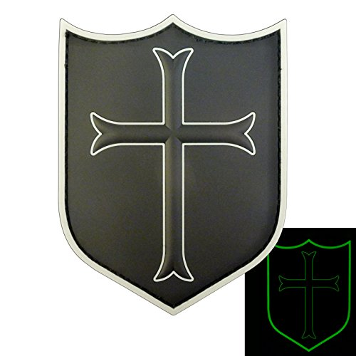 ALL BLACK US Navy Seals DEVGRU Crusaders Templar Knight Cross Morale PVC 3D Fastener Aufnäher Patch Seal Team 2 Patch