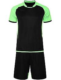 00bc242a2de05 KINDOYO Quick Dry Futbol Deportivo Manga Corta Transpirable Trajes de  Entrenamiento de Fútbol Fans Versión de Uniformes de…
