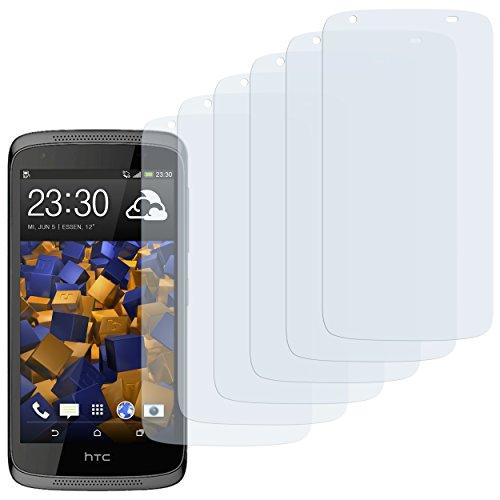 mumbi Schutzfolie kompatibel mit HTC Desire 526G Folie klar, Bildschirmschutzfolie (6x)