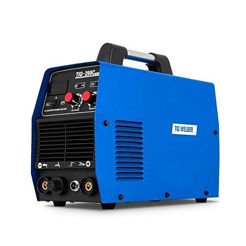 Mikroschweißgerät WIG-Schweißgerät 200 A Multifunktions-HF-Start 2IN1 IGBT-Inverter-Schweißgerät WIG/E-Hand-Gleichstrom-Schweißgerät Antihaft Digitaler Bildschirm (Color : TIG-200, Size : 110V) (Miller Welder Digital)