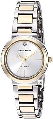 Anne Klein Womens Quartz Watch, Analog and Metal- AK3529SVTT
