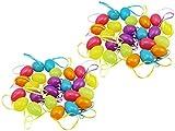 com-four® 48 Ostereier zum Aufhängen in unterschiedlichen Pastellfarben,...