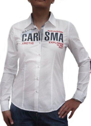 Gabbana Mode T-shirt (Carisma Damen Hemd Shirt Bluse, Weiß L)