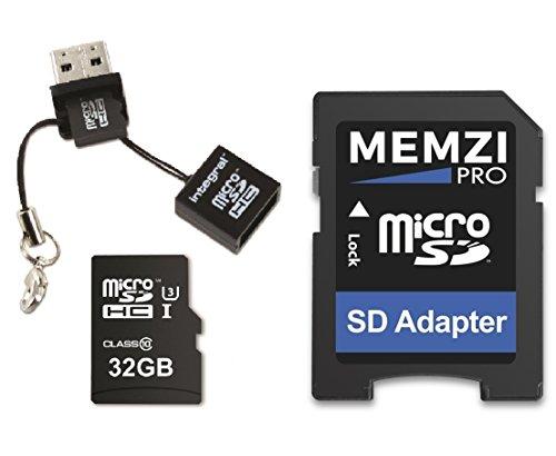 32GB Micro SDHC per Crosstour CT9000, CT8000, CT7000Action Camera–ultra veloce classe 10UHS-I U395Mb/s read 60MB/s Write 4K 2K 3D Full HD registrazione con adattatore SD e lettore mini USB