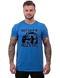 Bang Tidy Clothing Men's 4x4 t shirt Buy Bigger Toys 4wd 4x4 off road T Shirts