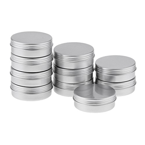 B Baosity Recipientes en Crema de Aluminio Redondo Resistente al Fugas para...