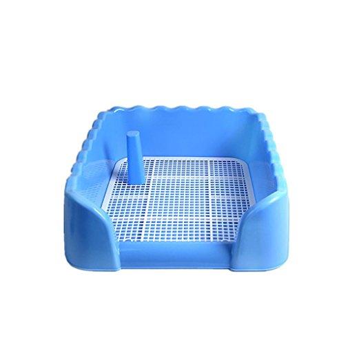 Pet Wc Zaun Hund Wc Anti - Spritzwasser Hund Urin Becken Mit Spalte Lieferungen , Medium Blue Belt Column