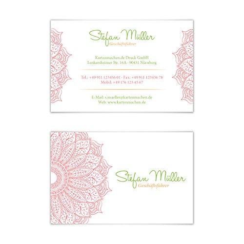 100 x Visitenkarten individuell Business Karten 300g/qm 85 x 55 mm - Erfrischende Blume