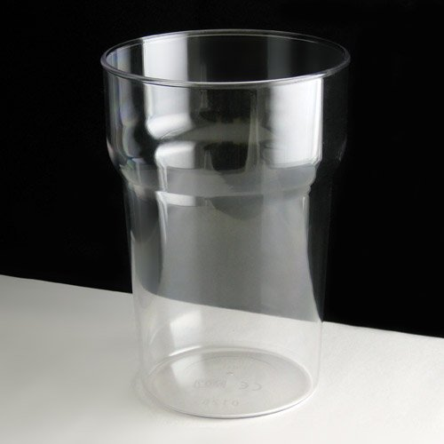 Virtually Unbreakable Polycarbonate Nonic Plastic Pint Glass by BB Plastics
