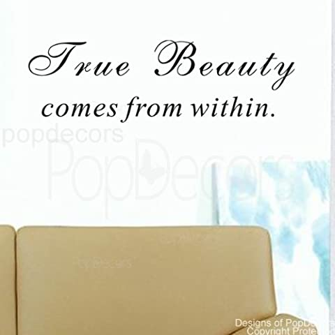 popdecors – True Beauty Livré de within- – Phrase Citation mots inspirants stickers muraux