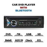 TOYOUSONIC Radio Coche CD 1 DIN Reproductor de DVD MP4 Bluetooth Admite Llamadas Manos Libres/Control Remoto/Radio FM/AUX IN/USB/TF
