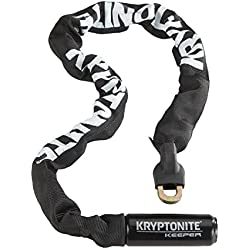 Kryptonite Chaine Keeper 712 - Cierre de cable para bicicletas, color negro, talla 120 cm