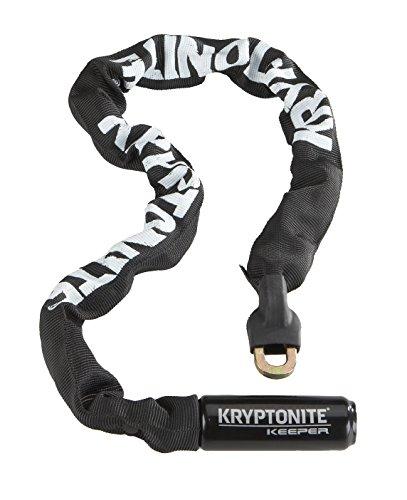 Kryptonite Kryptonite - Keeper 712 Integrated Chain -Kettenverschlusskette mit Vorhängeschloss 120 cm, schwarz/ weiß KEEPER 712 INTEGRATED CHAIN, schwarz/ weiß, Universal, 001706_KRY