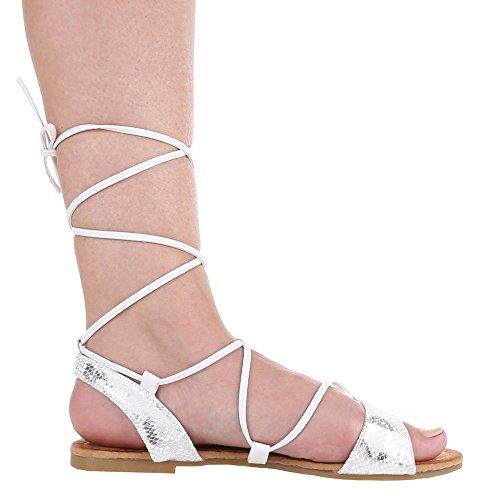 Ital-Design - Sandali  donna Bianco (Bianco - bianco)