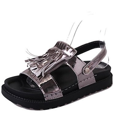 LvYuan Da donna Sandali Comoda PU (Poliuretano) Estate Autunno Casual Comoda Polacche Bianco Nero Argento Marrone scuro 2,5 - 4,5 cm Dark Brown